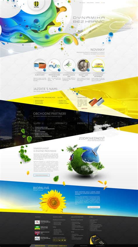 homepage design concepts web design concept by provoco for an oil rafinery