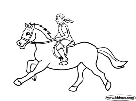 pony ride coloring pages western horse back riding colouring pages