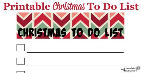 free printable holiday to do list free printable christmas to do list