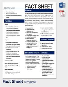 Business Fact Sheet Template fact sheet template 32 free word pdf documents