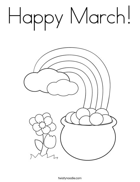 happy march coloring page twisty noodle