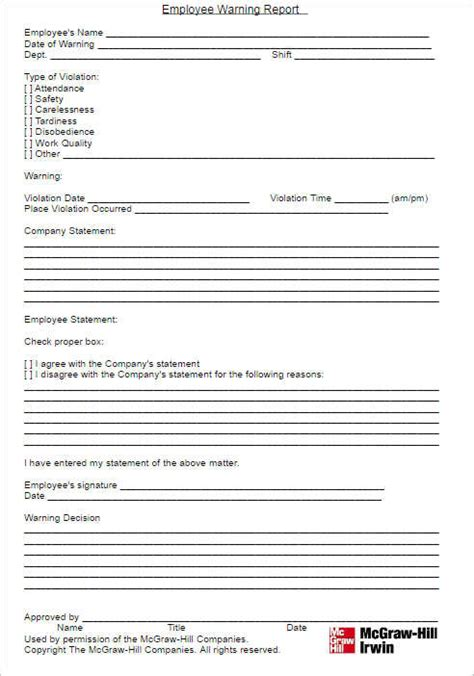 performance write up template 26 employee write up form templates free word