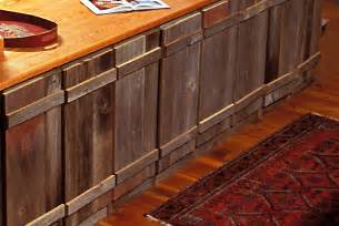 rustic reclaimed wood kitchen cabinets sleek wooden countertop
