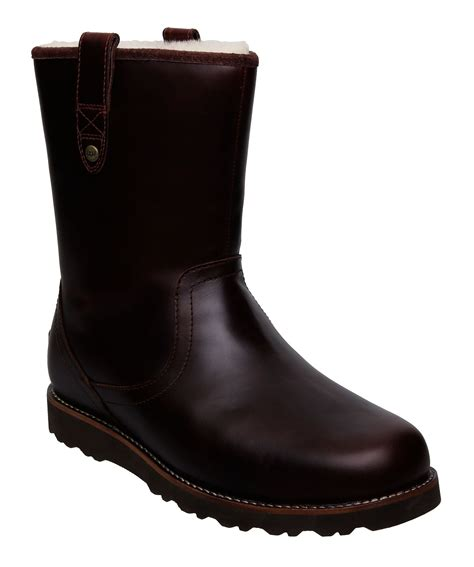 mens brown ugg boots ugg m stoneman casual boots in brown for lyst