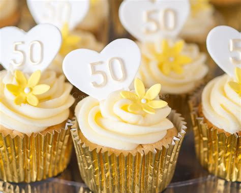 50th wedding anniversary cupcake ideas
