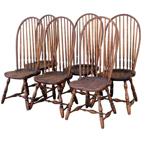 high back windsor armchair set of six high back windsor chairs at 1stdibs