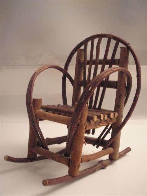 Handmade Chair - vintage primitive handmade stick rocking chair decor 11