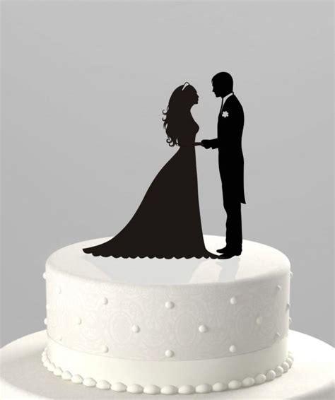Topper Siluet Wedding Acrilik wedding cake topper silhouette groom and acrylic cake topper ct38 2441999 weddbook