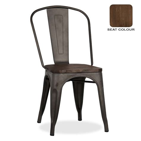 Tolix Dining Chairs Tolix Dining Chair With Wood Decofurn Factory Shop