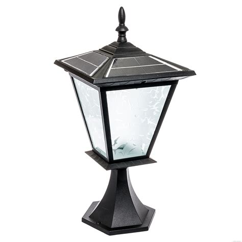 Post Solar Lights Outdoor Reusable Revolution 3 Led Solar Outdoor Garden Post Cap Light Black Ebay