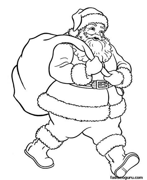 Santa Claus Merry 7 santa hat merry pencil and in color