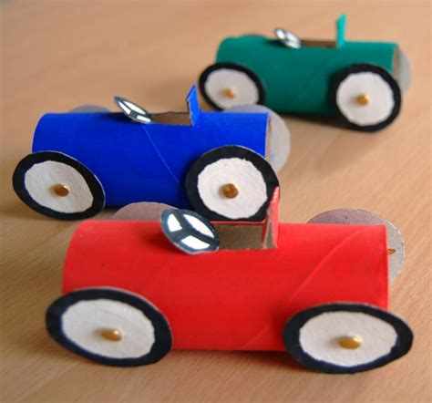 Paper Car Craft - paper crafts cool car race crafts using toilet paper