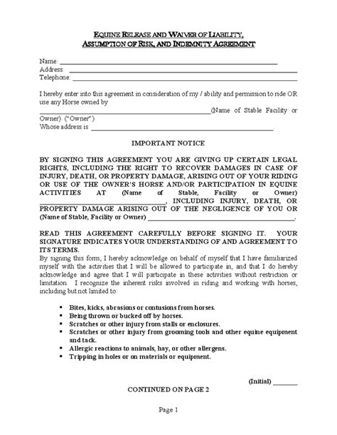 waiver agreement template 28 waiver agreement template simple service