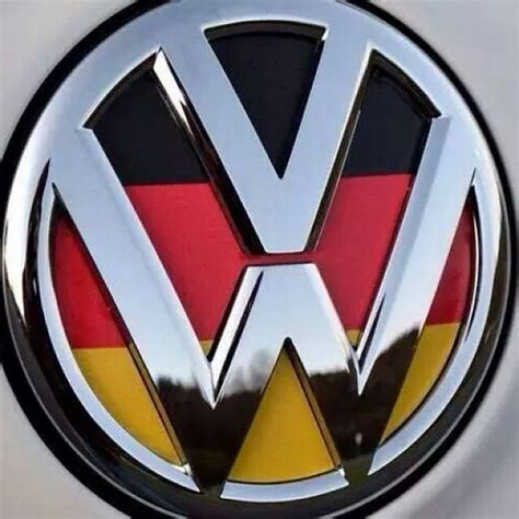 german volkswagen logo vw logo with german flag background das vw emblems