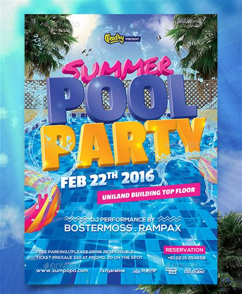 28 Pool Party Invitations Free Psd Vector Ai Eps Format Download Free Premium Templates Pool Invitations Templates Free