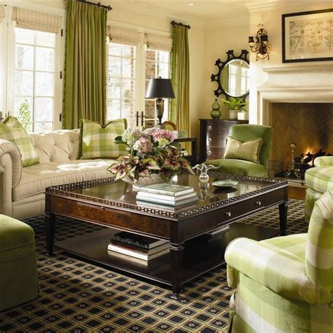 Traditional Green Living Room Golden Of Living Room Furnishing Interior Design