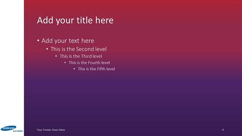 samsung powerpoint template widescreen slide4