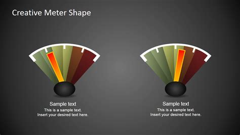 Free Creative Meter Shapes For Powerpoint Slidemodel Creative Free