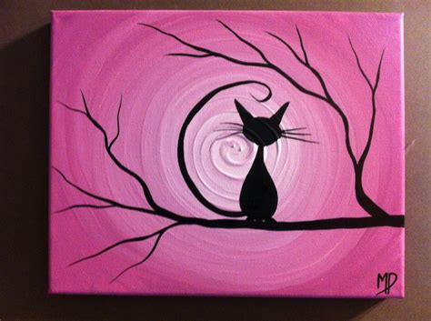 easy painting cat learn the basics of canvas painting ideas and projects