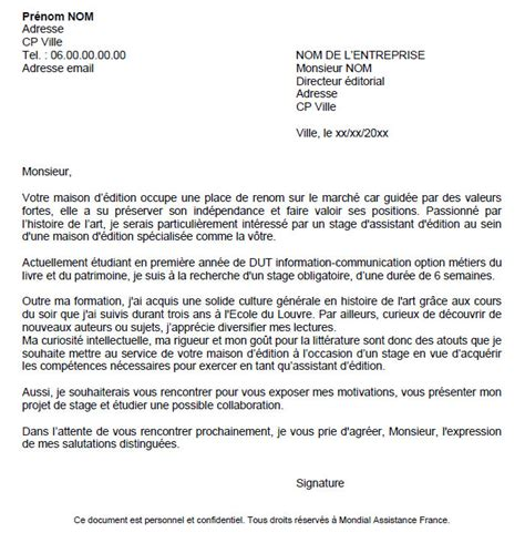 Lettre De Motivation Candidature Spontanée Qualité cover letter exle exemple de lettre de motivation