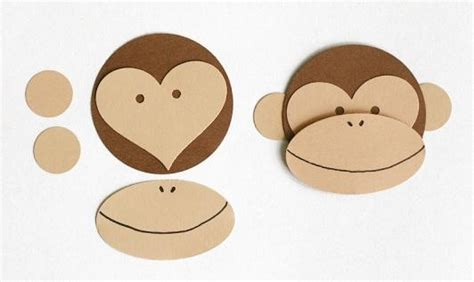 How To Make A Paper Monkey - crafted valentines monkey paper and cards
