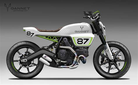 Trellis Cafe Three More Custom Ducati Scramblers From Gannet Design