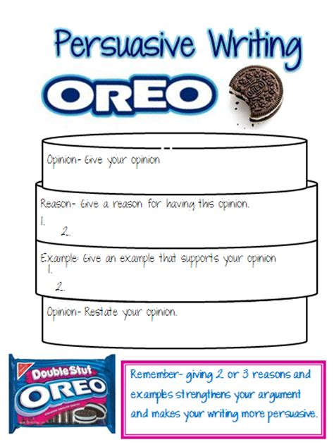 oreo template for persuasive writing our cool school persuasive writing oreo updated with