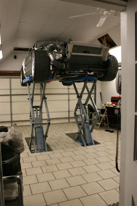 How To Install A Hoist In Garage by In Floor Scissor Lift Install The Garage Journal Board