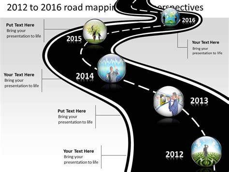 Product Roadmap Timeline 2012 To 2016 Road Mapping Future Perspectives Powerpoint Templates Free Roadmap Timeline Template