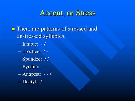 accentual pattern of words ppt sound devices pattern and rhyme powerpoint