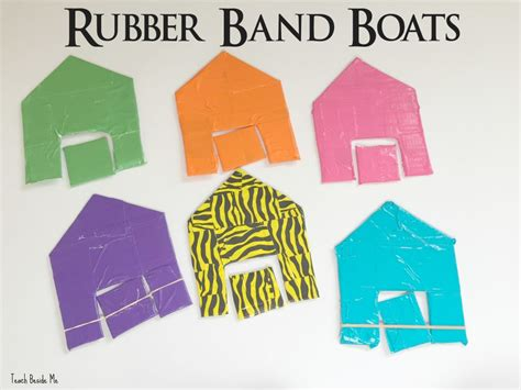 rubber band boat homemade toy rubber band boats teach beside me
