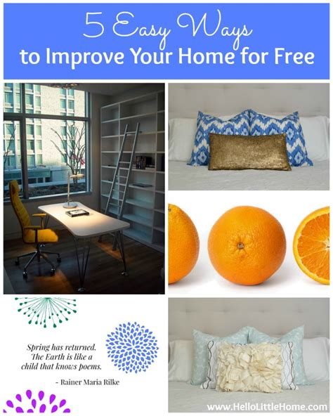5 easy ways to improve your home for free
