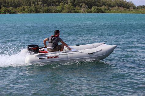blow up speed boat inflatable mini cat catamaran mc365