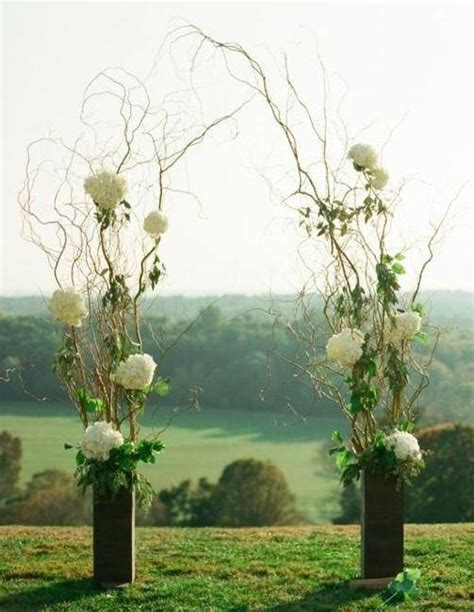 Wedding Arch Vases by Curly Willow Wedding Arch With Vases Willows More