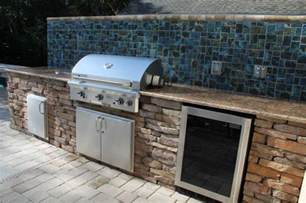 exceptional outdoor kitchen brandon fl with mosaic ceramic tile kitchen backsplash and granite