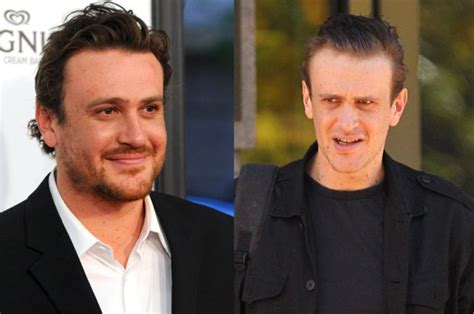 gaunt oblong face has he gone too far funnyman jason segel steps out