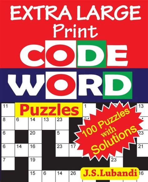 extra large print codeword puzzles    lubandi