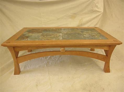 coffee table with slate inlay cherry coffee table with slate inlay