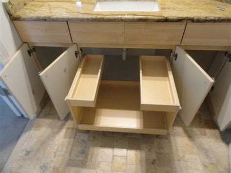 Bathroom Vanity Slide Out Shelves Pull Out Shelves For Your Bathroom Vanity Traditional Bathroom Columbus By Shelfgenie Of