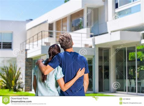 their home family in big house stock photo image of mortgage couple