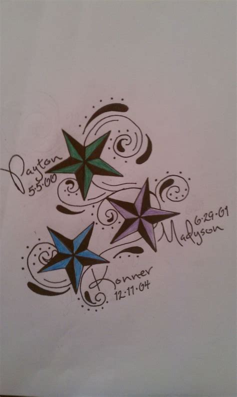 name tattoo ideas for moms kids names tattoos for moms with stars google search
