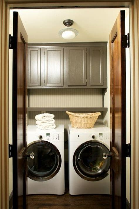 washer and dryer cabinet cabinets over washer dryer transitional laundry room
