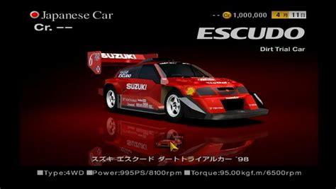 Suzuki Escudo Gt5 Suzuki Escudo Dirt Trial Car 98 Gran Turismo Wiki