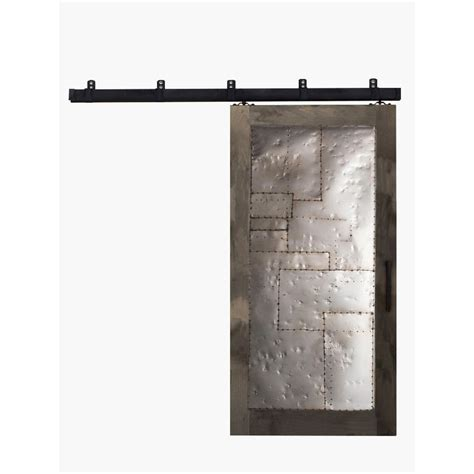 Sliding Barn Door Hardware Home Depot Rustica Hardware 42 In X 84 In Steunk Home Depot Grey Metal Barn Door With Box Rail Sliding
