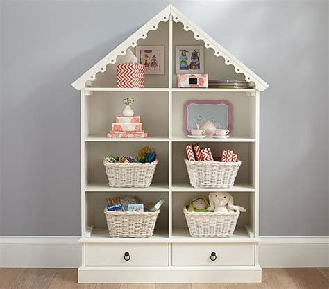 childs doll house dollhouse bookcase pottery barn kids