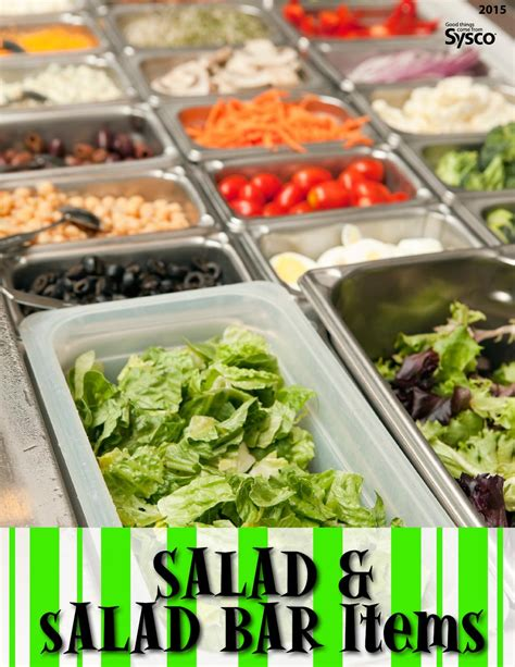 Bar Items Salad Salad Bar Items 2015 By Sysco Hton Roads Issuu
