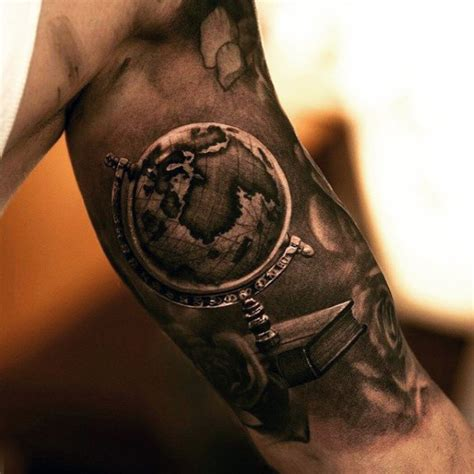realistic tattoos for men 50 world map designs for adventure the globe
