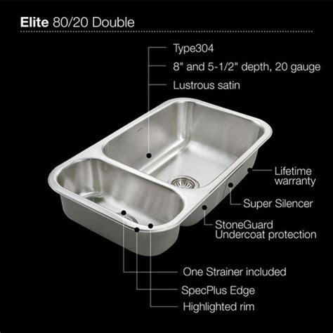 elite series  undermount double bowl kitchen sink