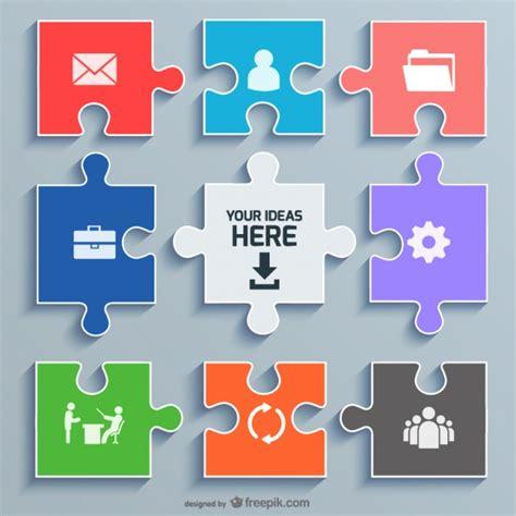 Design Konzept Vorlage B 252 Ro Puzzle Konzept Vorlage Der Kostenlosen Vektor