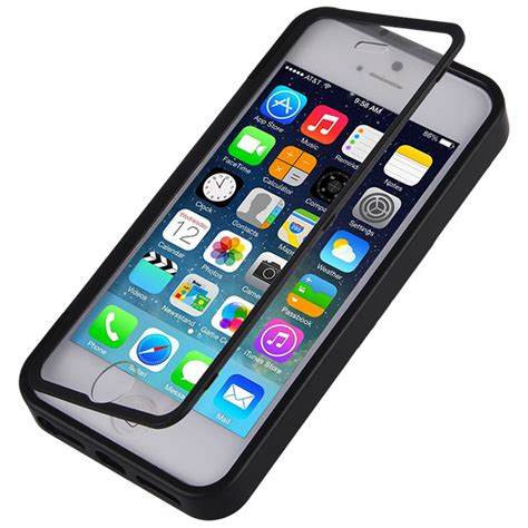 Handphone Cover Had Iphone 7 Cover 360 Warna Polos Bahan iphone 5s 5se 6 6s 7 360 degree clear view flip silicon